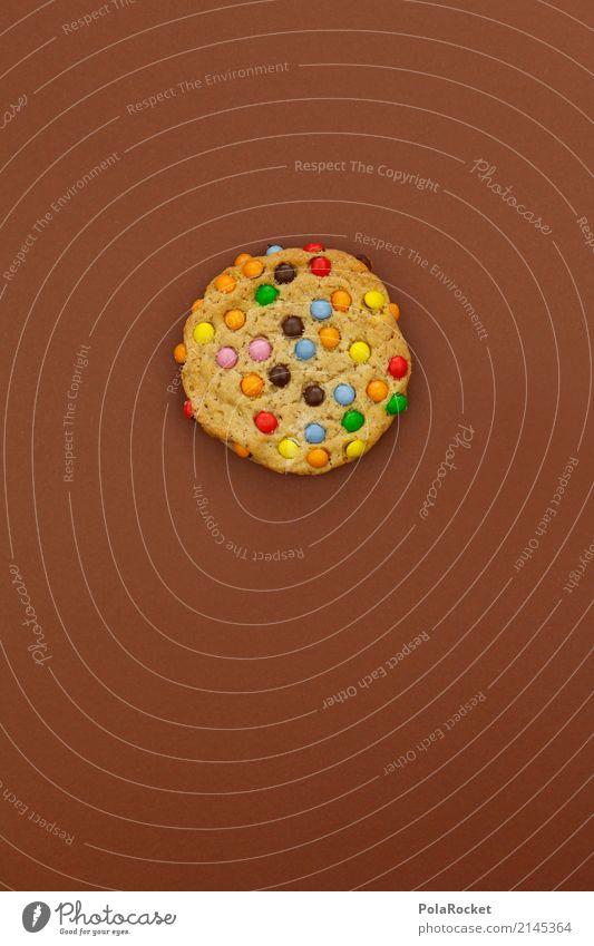 #AS# Brown Cookie Kunst ästhetisch Keks Backwaren Süßwaren cookie lecker ungesund Appetit & Hunger Kalorie Kalorienreich mehrfarbig braun süß Schokolinsen