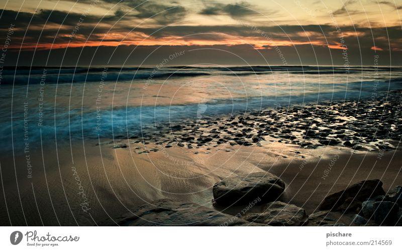 Summer Shudder Natur Wasser schön Meer Sommer Strand Wolken Einsamkeit Ferne Freiheit Stein Horizont ästhetisch Romantik exotisch Sonnenaufgang
