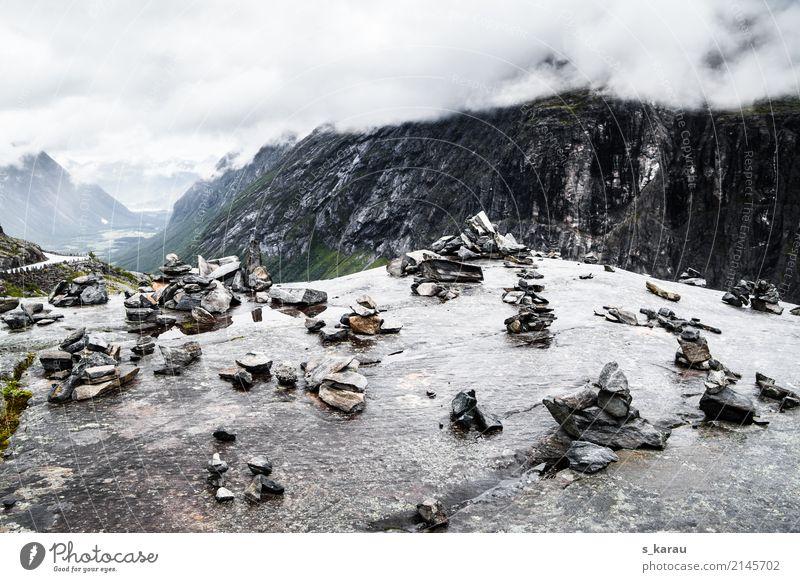 Trollstigen, Norwegen Ferien & Urlaub & Reisen Tourismus Ausflug Abenteuer Freiheit Berge u. Gebirge wandern frei kalt Freizeit & Hobby Skandinavien Landschaft