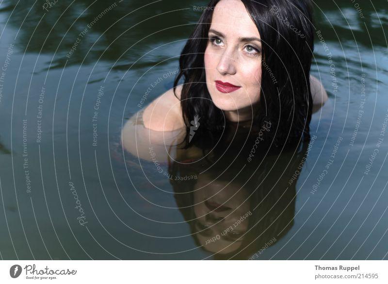 K......... Frau Mensch Natur Jugendliche Wasser schön Sommer feminin Glück See Zufriedenheit Wellen Erwachsene nass Freizeit & Hobby
