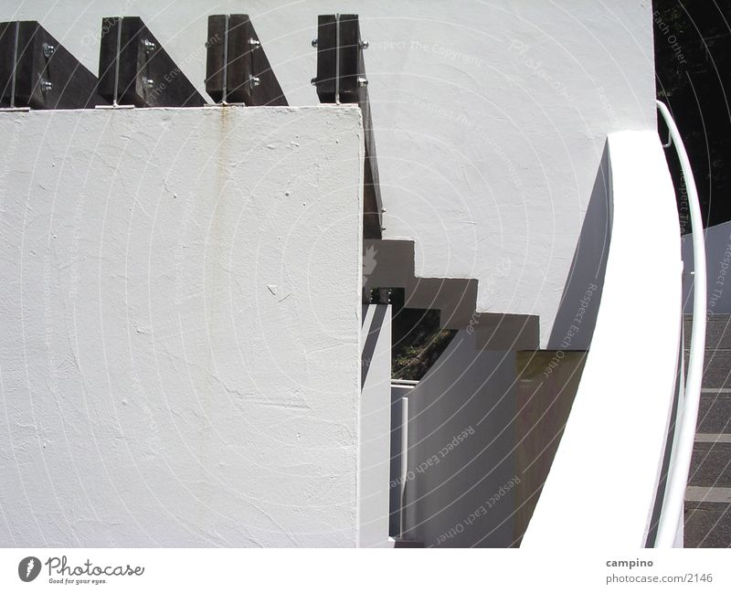 Stiege weiß schwarz Architektur