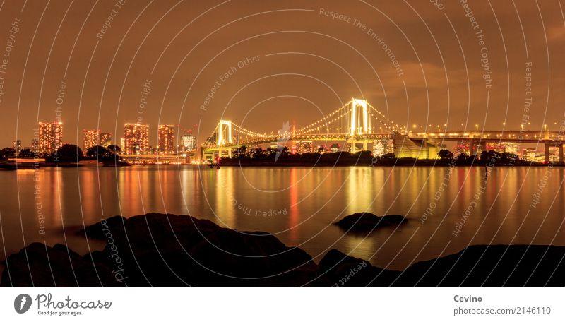 Nachts in Tokio Tokyo Japan Asien Stadtrand Skyline Menschenleer Brücke Bauwerk Gebäude Architektur Sehenswürdigkeit Verkehr Verkehrsmittel Verkehrswege
