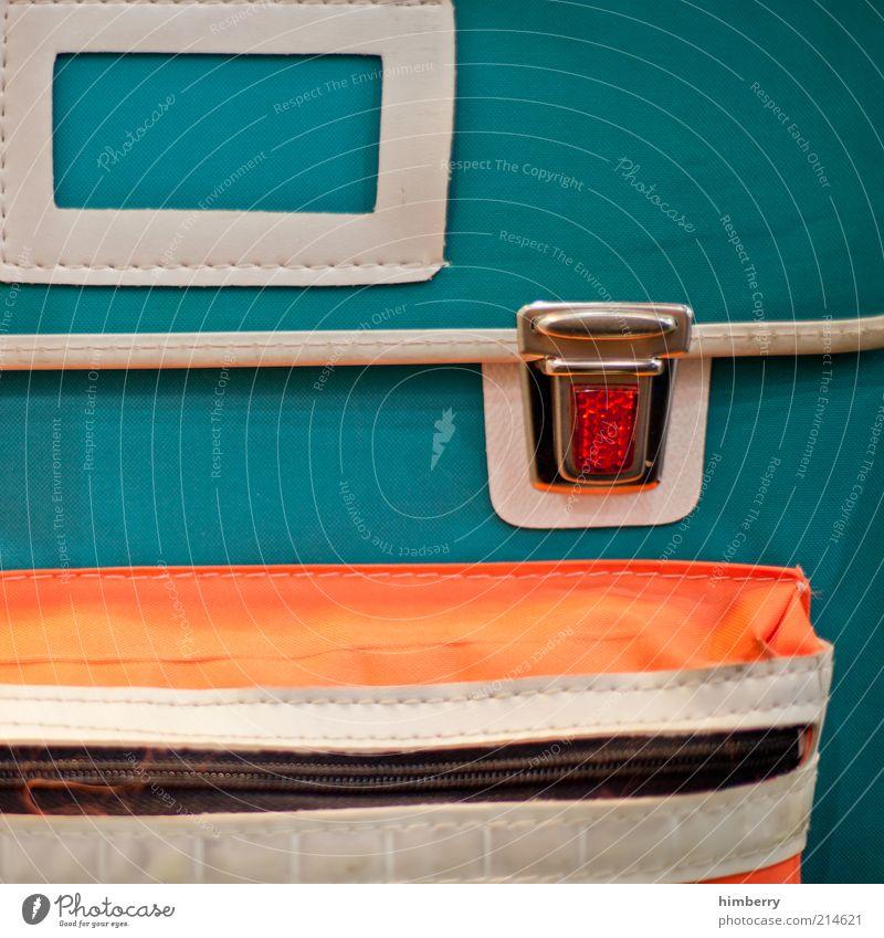 der gute alte toni Schule retro Bildung Stoff Kindererziehung klassisch Rucksack Gepäck Mensch Aktion Reißverschluss Reflektor Schulranzen Verschluss Einschulung Grundschule