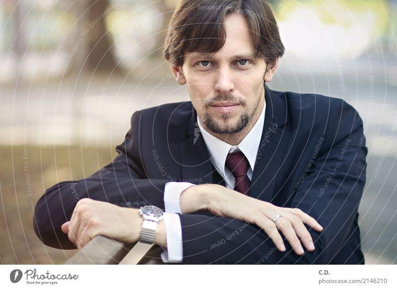 Vitali III Lifestyle elegant Stil Business Karriere Erfolg Junge Frau Jugendliche Mann Erwachsene 18-30 Jahre 30-45 Jahre Mode Bekleidung Anzug brünett Bart