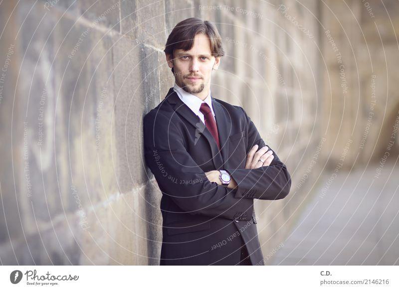 Vitali II maskulin Junger Mann Jugendliche Erwachsene 18-30 Jahre 30-45 Jahre Mode Bekleidung Anzug Krawatte brünett Bart stehen elegant Erfolg Freundlichkeit