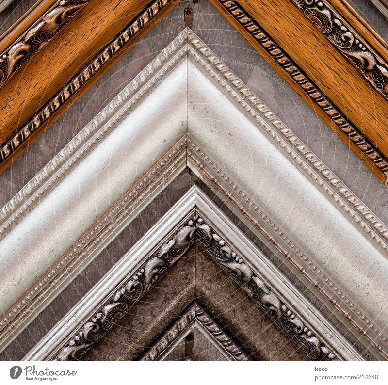eckig schön schwarz Holz grau braun glänzend Design ästhetisch mehrere Ecke Asien Dekoration & Verzierung außergewöhnlich China silber