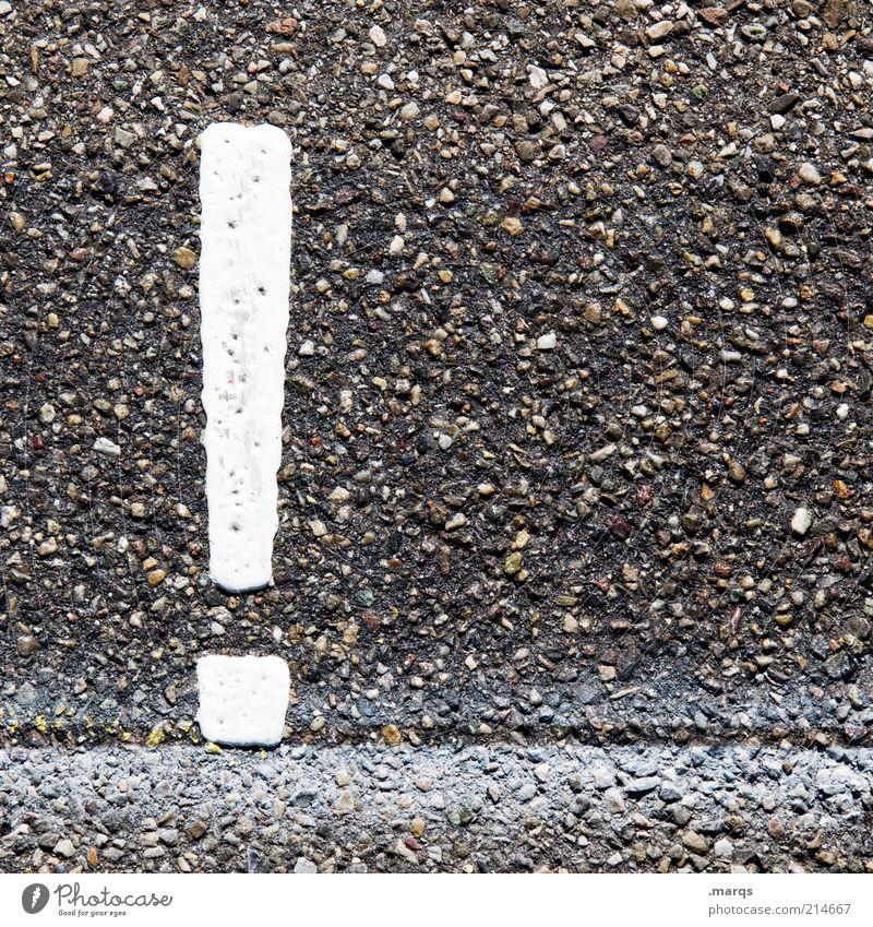 ! Straße Stein Schilder & Markierungen Verkehr gefährlich Schriftzeichen Asphalt Zeichen Wachsamkeit Warnhinweis Wissenschaften achtsam Verkehrsschild