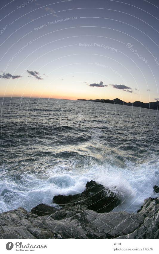 Naturschönheit II Himmel Wasser Sommer Ferien & Urlaub & Reisen Meer Wolken ruhig Ferne Freiheit Landschaft Umwelt Stein Küste Wellen Horizont