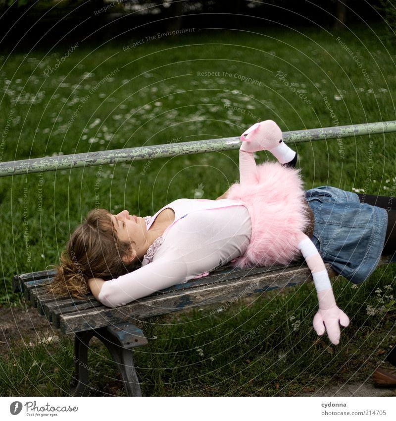 zZzZzZzZz z z z Mensch Natur Jugendliche schön Freude Erwachsene Erholung Wiese Leben Freiheit Glück Stil träumen Park Zufriedenheit