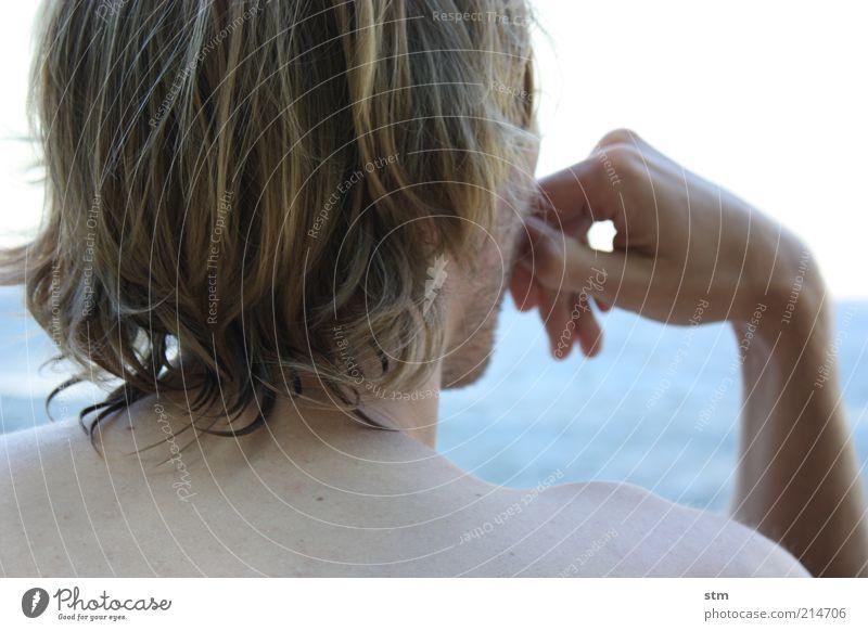 beyond the sea [2] Mensch Mann Jugendliche Ferien & Urlaub & Reisen Hand schön ruhig Erwachsene Erholung Leben Haare & Frisuren Kopf Junger Mann Zufriedenheit
