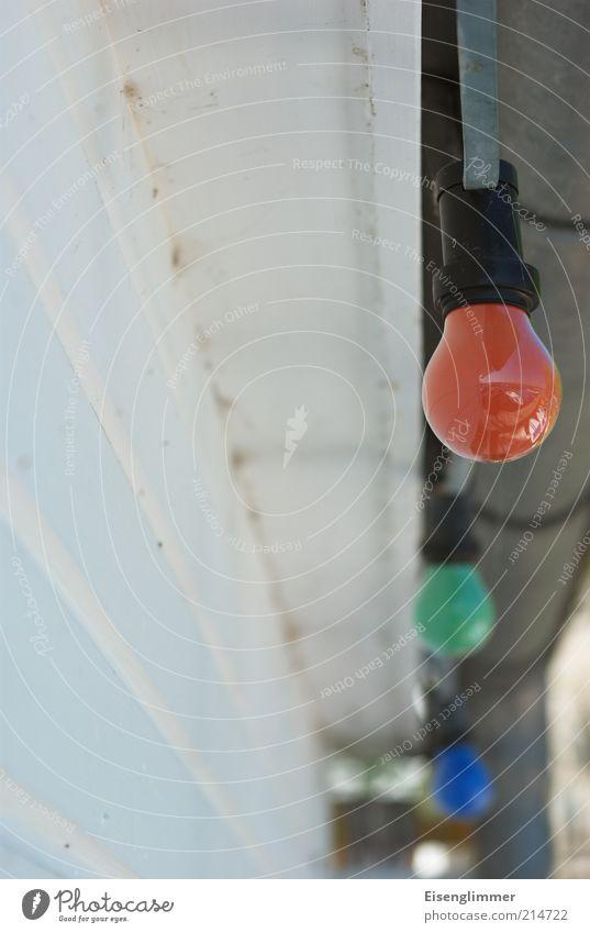 [HH 04.09] Lichterkette Sommer Sommerurlaub Garten Dekoration & Verzierung Lampe Feste & Feiern ästhetisch rund blau grün rot weiß Farbe Nostalgie Glühbirne