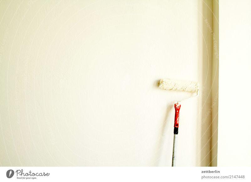 Weiße Wand weiß bleichen Handwerk Baustelle Maler Anstreicher Anstrich streichen malen Rolle Haushalt Schwarzarbeit Dienstleistungsgewerbe selbstgemacht