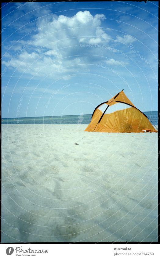 gegenregenherbststimmung Natur schön Meer Sommer Strand Ferien & Urlaub & Reisen Ferne gelb Erholung Sand Landschaft Küste Umwelt Ausflug Tourismus