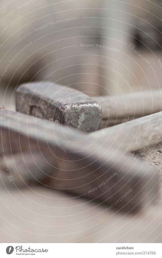 Hammer hart... grau Stahl Handwerk Symbole & Metaphern Werkzeug Handwerker Arbeitsplatz Beruf Hammerkopf