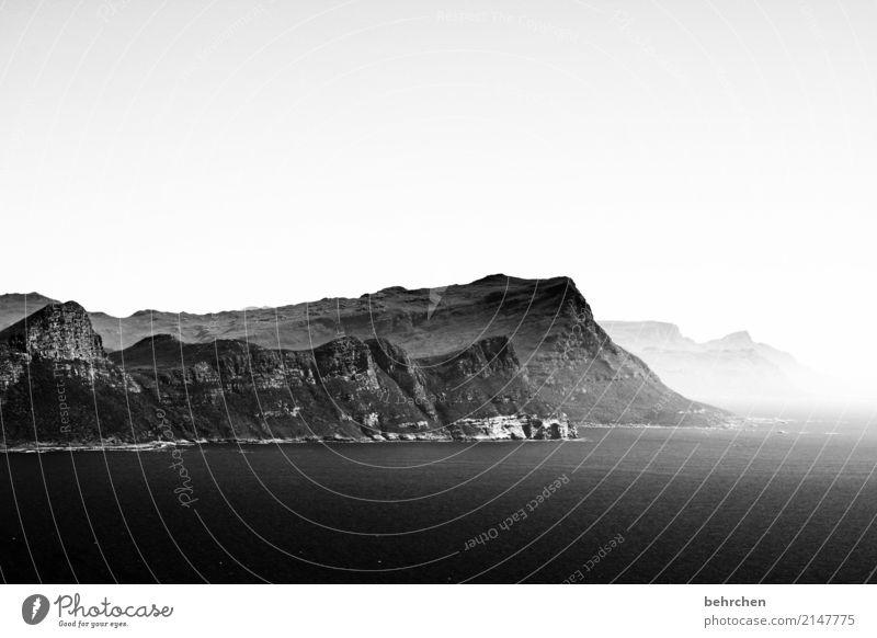 cape point Ferien & Urlaub & Reisen Tourismus Ausflug Abenteuer Ferne Freiheit Landschaft Wasser Himmel Nebel Berge u. Gebirge Wellen Küste Meer Cape Point