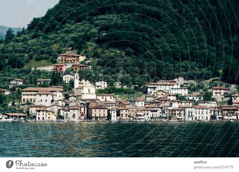 urlaub Küste Seeufer Italien Dorf Hafenstadt Farbfoto Außenaufnahme Tag Reisefotografie Ferien & Urlaub & Reisen Haus
