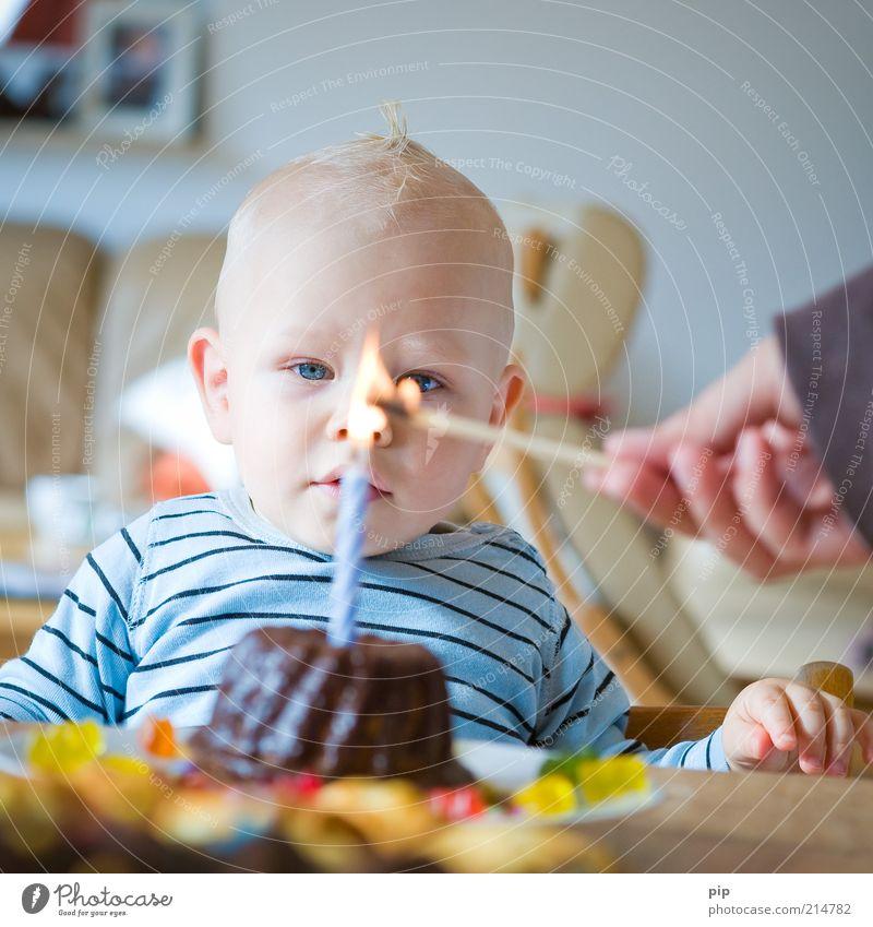 365 glückstage Auge Liebe Junge Glück träumen Feste & Feiern blond Baby Geburtstag Beginn Feuer Tisch Wachstum Zukunft Kerze beobachten