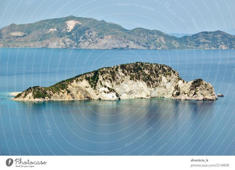 Natur schön Himmel Meer blau Sommer Strand Ferien & Urlaub & Reisen Landschaft Wasserfahrzeug Küste Horizont hoch Europa Insel