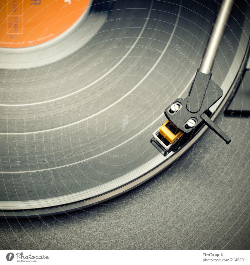 Max Greger: Hits marschieren auf! Stil Musik Feste & Feiern orange liegen retro trendy Technik & Technologie Furche Siebziger Jahre Schallplatte Tonabnehmer