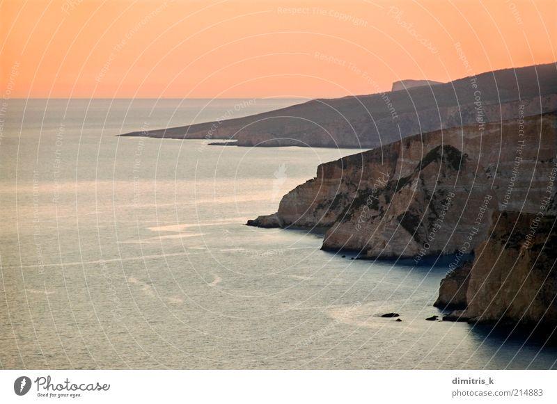 Küstengrate Sonnenuntergang schön Ferien & Urlaub & Reisen Tourismus Sommer Meer Insel Berge u. Gebirge Natur Landschaft Himmel Horizont Sonnenaufgang Felsen