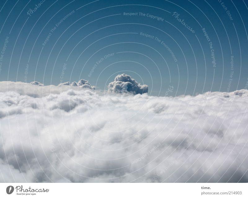 Wolke 7 schön Himmel blau Wolken Ferne oben Horizont hoch weich einzigartig kuschlig Anhäufung Wasserdampf Wolle schlechtes Wetter Atmosphäre
