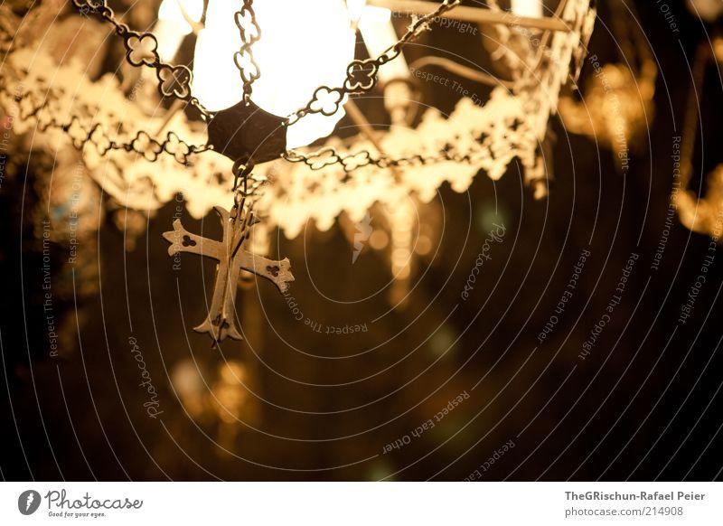 Religion vs. Glaube Ferien & Urlaub & Reisen Tourismus Jerusalem Israel Naher und Mittlerer Osten Kirche braun gelb gold schwarz Christliches Kreuz Leuchter