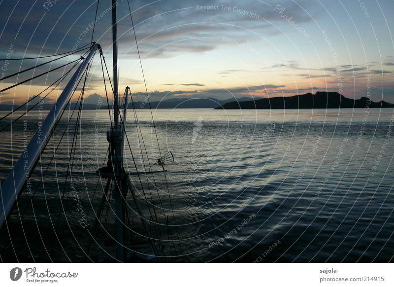 fernweh Natur Wasser Himmel Meer Ferien & Urlaub & Reisen Wolken Ferne Landschaft Wellen Umwelt Horizont Insel Tourismus Asien Hügel Urelemente