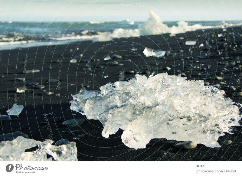 Kristall Himmel Natur Ferien & Urlaub & Reisen weiß Meer Strand Einsamkeit Landschaft schwarz Umwelt kalt Küste Horizont Eis außergewöhnlich Klima