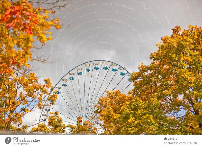 voixfest Himmel Baum Wolken Blatt Herbst Stimmung Wetter Feste & Feiern Freizeit & Hobby Jahrmarkt Jahreszeiten Oktoberfest Herbstlaub Entertainment