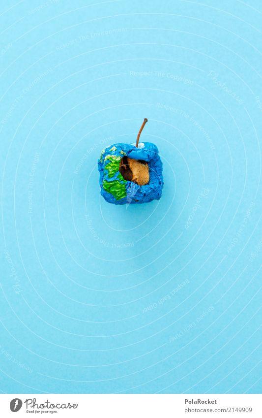 #AS# was bleibt... Kunst ästhetisch Apfel Erde Klima Klimawandel Klimaschutz Klimagipfel Klimazone blau Planet vertrocknet getrocknet verloren verschrumpelt