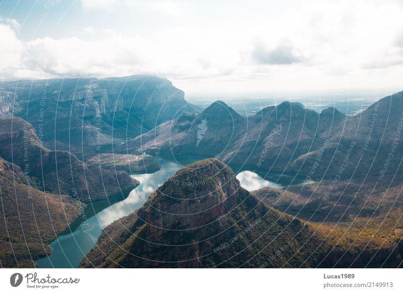 Blyde River Canyon Himmel Natur Ferien & Urlaub & Reisen Pflanze Landschaft Wolken Ferne Wald Berge u. Gebirge Umwelt Wiese Freiheit Tourismus See Felsen