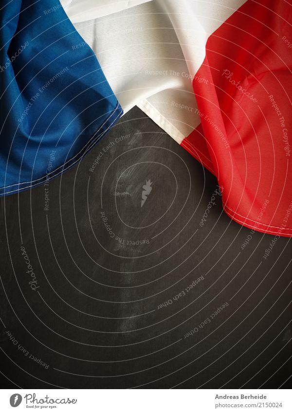 Französisch Ferien & Urlaub & Reisen Snowboard Streifen Fahne Kultur flag Hintergrundbild france Nationalitäten u. Ethnien Symbole & Metaphern blackboard Speise
