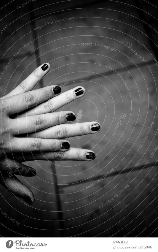 Hand in Hand Mensch Jugendliche Hand dunkel feminin Glück Freundschaft Finger Sicherheit festhalten berühren Vertrauen Kosmetik Geborgenheit Fingernagel Treue