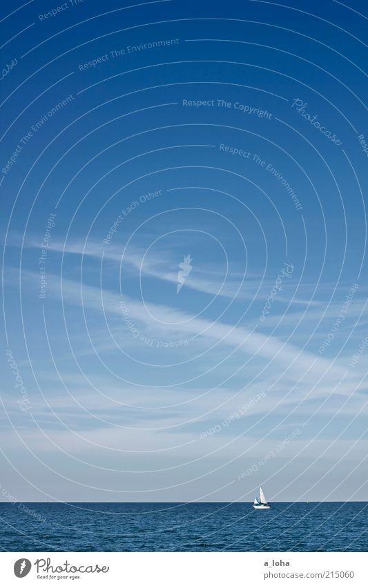 summer breeze Himmel Natur blau Wasser Ferien & Urlaub & Reisen Meer Sommer Wolken Einsamkeit Ferne Erholung Bewegung Wege & Pfade Linie Horizont Wellen