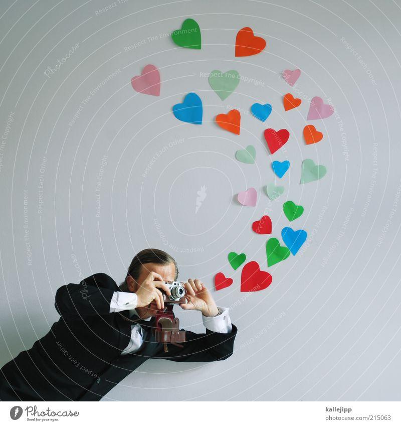 hochzeitsfotograf Lifestyle Freizeit & Hobby Feste & Feiern Beruf Mensch maskulin Mann Erwachsene Leben 1 30-45 Jahre Hemd Anzug Fliege Zeichen Herz Blick