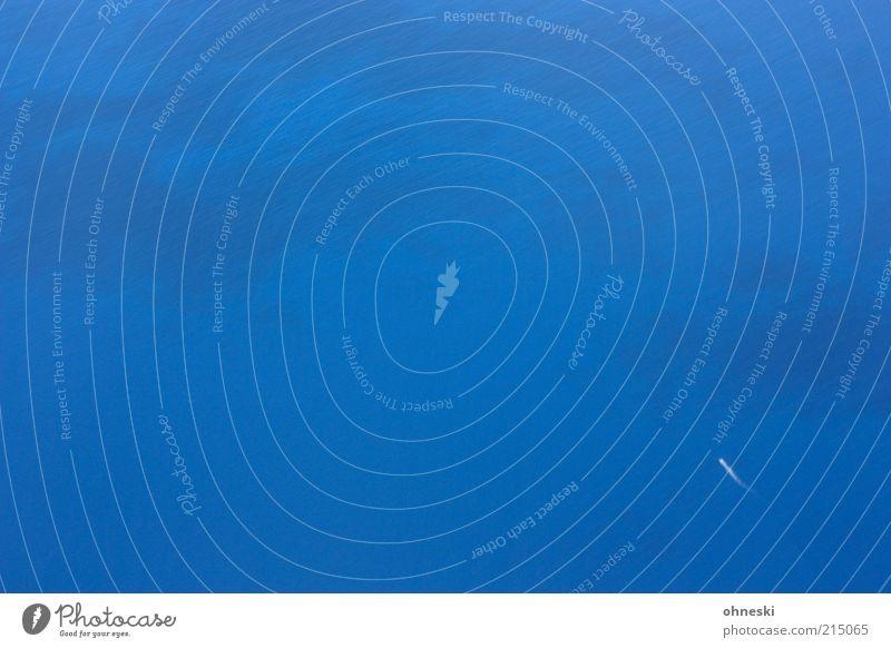 Kreuzfahrt Wasser weiß Meer blau Ferien & Urlaub & Reisen Ferne Freiheit hoch Urelemente Schifffahrt Vogelperspektive Textfreiraum Pazifik Flugzeugausblick