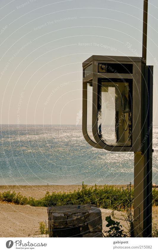 call me Meer Sommer Strand Ferien & Urlaub & Reisen Ferne Erholung Wärme Wellen Horizont Telefon Ausflug Fröhlichkeit retro Insel Tourismus authentisch