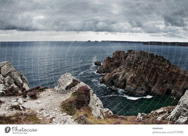 Dinan Ferien & Urlaub & Reisen Tourismus Ausflug Ferne Sightseeing Sommerurlaub Umwelt Natur Landschaft Felsen Küste Bucht Riff Meer Atlantik Klippe Bretagne