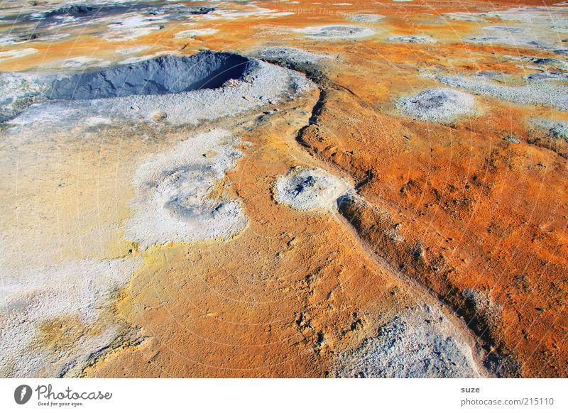 Hot Spot Natur Sommer Landschaft Umwelt außergewöhnlich orange Erde Klima Schönes Wetter Urelemente trist heiß fantastisch Island Hölle Quelle