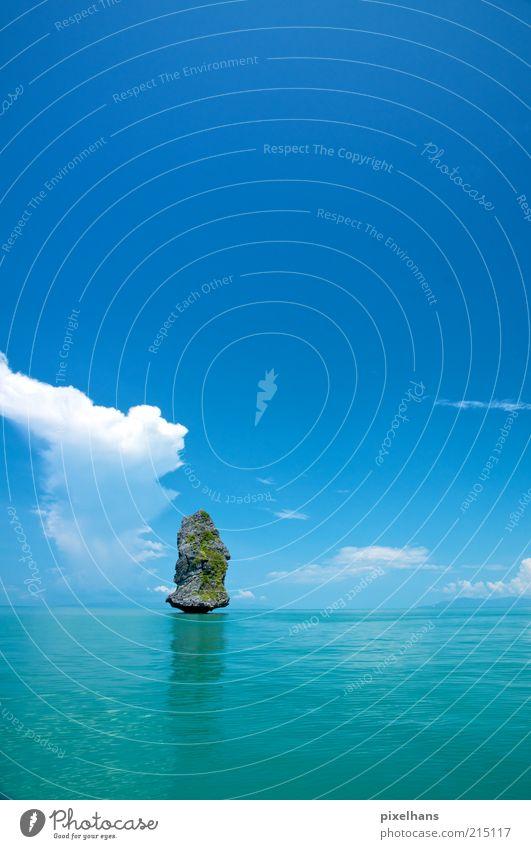 standhaft! Himmel Natur Wasser Sommer Ferien & Urlaub & Reisen Meer Wolken Ferne Erholung Landschaft Umwelt Stein Küste hell Wellen Horizont