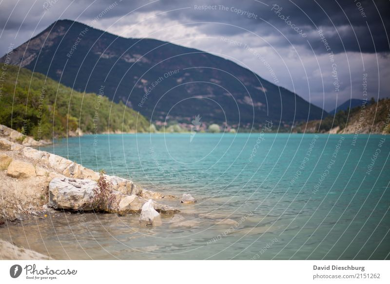 Bergsee Himmel Natur Ferien & Urlaub & Reisen Sommer Landschaft Meer Erholung Wolken Berge u. Gebirge Frühling Küste Tourismus See Ausflug Wellen Schönes Wetter