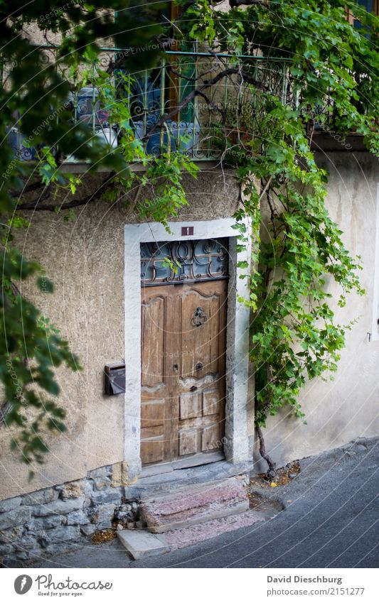 Altstadtromantik Ferien & Urlaub & Reisen alt Erholung Einsamkeit Haus Tourismus braun Fassade Ausflug Tür Idylle Romantik Wein Dorf Gelassenheit