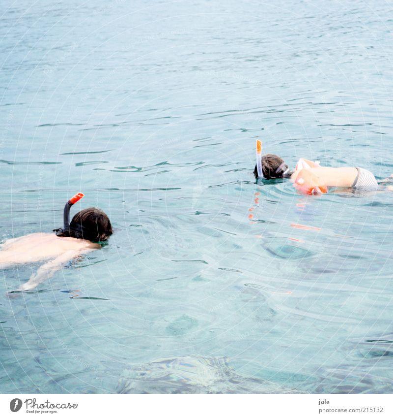 wie der vater so der sohn Mensch Kind Mann Wasser Ferien & Urlaub & Reisen Sommer Meer Erwachsene Zusammensein Freizeit & Hobby maskulin Sommerurlaub Wasseroberfläche Schnorcheln Gefühle