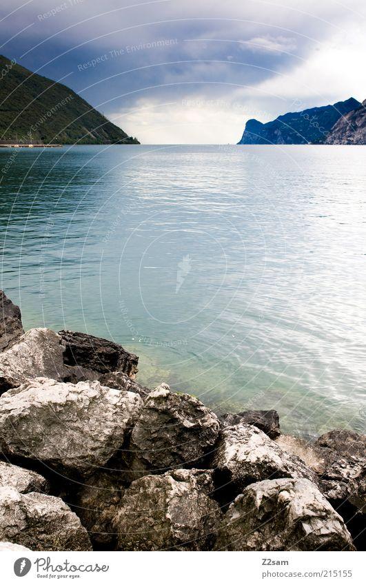 Ich will da wieder hin! SOFORT! Natur Wasser schön Himmel Sommer ruhig Wolken Ferne dunkel Berge u. Gebirge Stein See Landschaft Umwelt ästhetisch Romantik