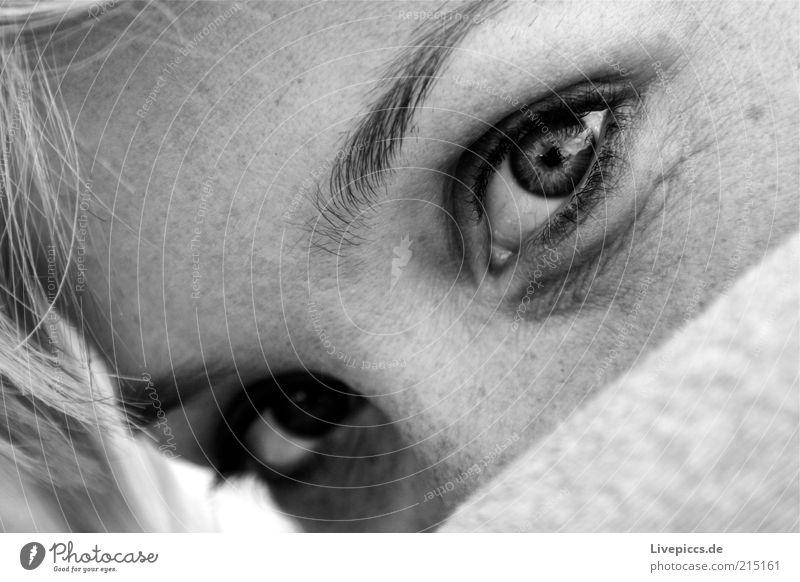 annusch3 feminin Junge Frau Jugendliche Erwachsene Gesicht Auge 1 Mensch 18-30 Jahre beobachten Blick Erholung Außenaufnahme Blick in die Kamera geheimnisvoll