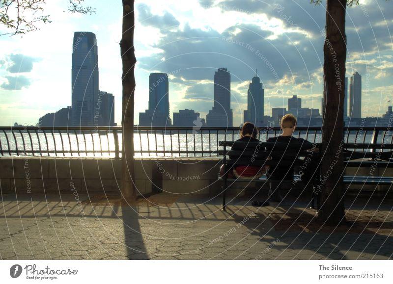 Enjoy The Silence Bildung Studium lernen Mensch 2 13-18 Jahre Kind Jugendliche Jugendkultur lesen Wolken Sonnenlicht Schönes Wetter Park New York City USA