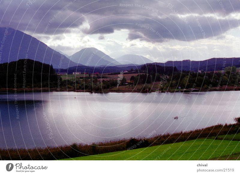 Seelandschaft Wasser Wolken Berge u. Gebirge Nebel Alpen Gewitter