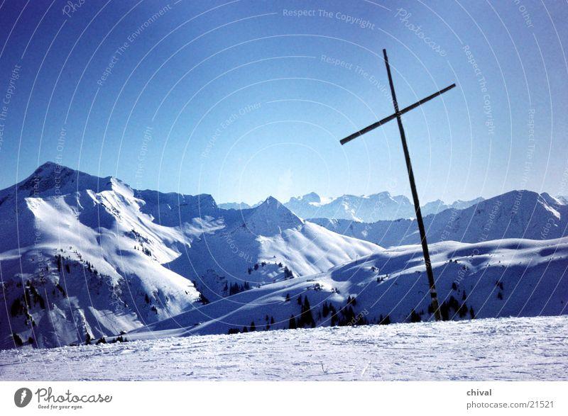 Portlerhorn Panorama (Aussicht) Gipfel Berge u. Gebirge Nebel Silhouette Rücken Schnee Sonne Spuren groß