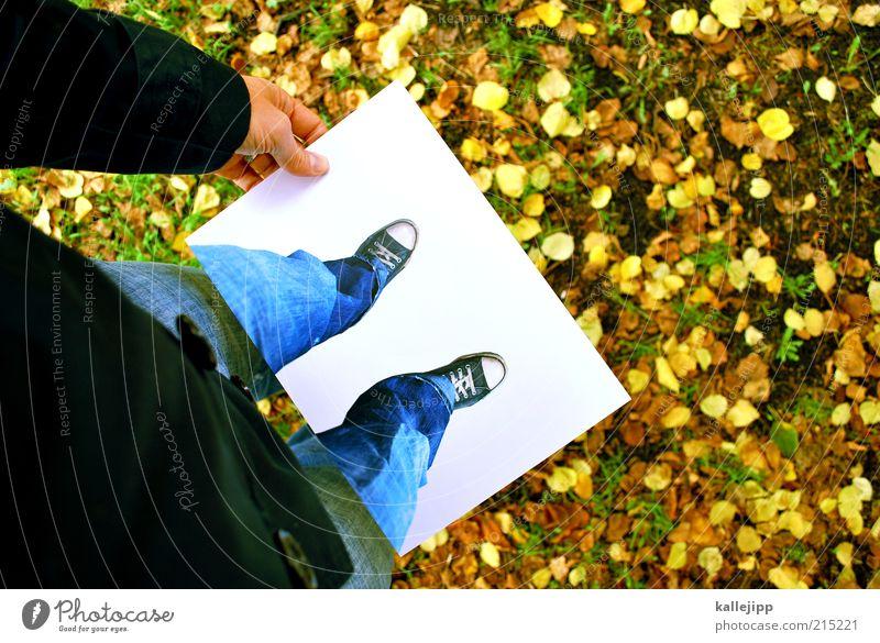 herbst/winter kollektion Lifestyle Stil Freizeit & Hobby Spielen Mensch Leben Beine Fuß 1 Kunst Herbst Winter Eis Frost Schnee Wiese Mode Jeanshose Jacke