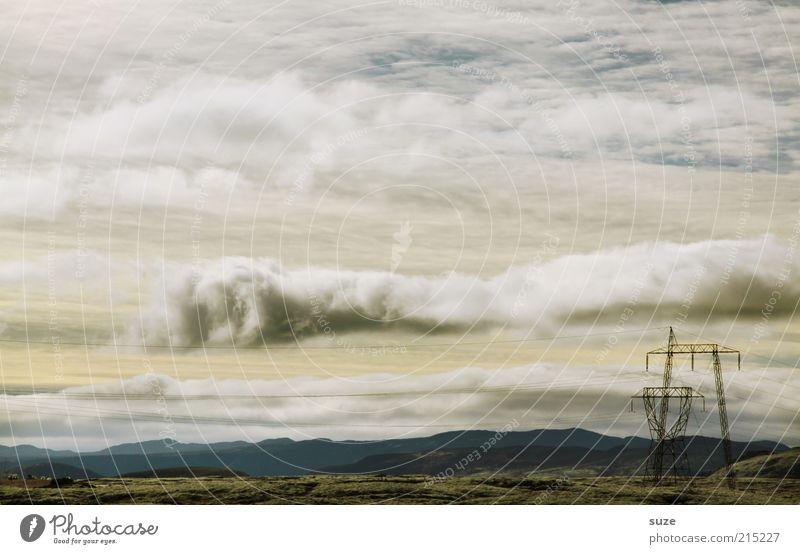 Donnerwetter Himmel Natur Sommer Wolken Landschaft Umwelt Horizont Wetter außergewöhnlich Erde Elektrizität Urelemente Industriefotografie fantastisch Strommast Island